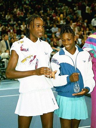 Serena Williams - Williams sisters at a Pam Shriver event in Baltimore, 1993
