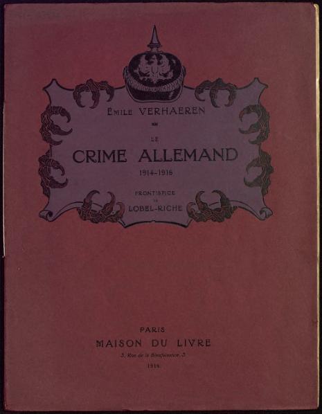 File:Verhaeren - Le Crime allemand, 1915.djvu