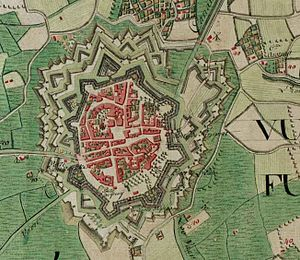 Veurne - Veurne on the Ferraris map (around 1775)