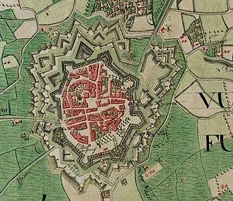 Veurne - Veurne on the Ferraris map (around 1775)