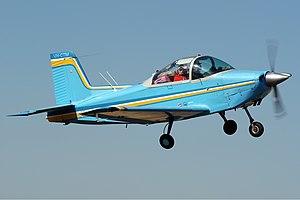 AESL Airtourer - AESL Airtourer 100/A1 inflight near Shepparton Airport