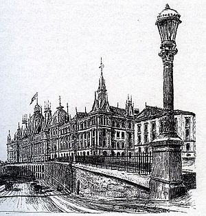 Peter J. K. Petersen - Victoria Terrasse, 1896 drawing