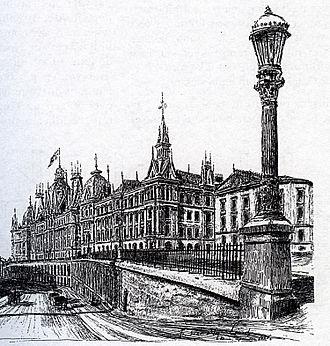 Peter J. K. Petersen - Victoria Terrasse, 1896 drawing