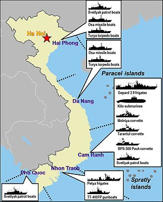 Cam Ranh Bay - Cam Ranh bay, the main base in Vietnam People's Navy fleet nowadays