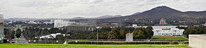 View from top of parliament house towards mt ainslie.jpg
