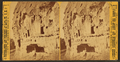View of Cochiti cliff dwellings, by Brown, William Henry, 1928-.png
