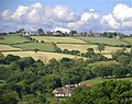View of Holmesfield Derbyshire from the footpath above Millthorpe - geograph.org.uk - 472283.jpg