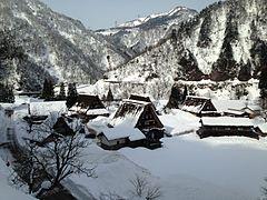View of Suganuma, Gokayama, Nanto, Toyama in a snowy day 1.JPG
