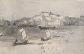 View of the Harbour at Lisbon (7 May 1876) - Sydney Prior Hall.png
