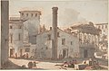 View of the Roman Forum with the Column of Phocas and the Temple of Saturn MET DP807775.jpg