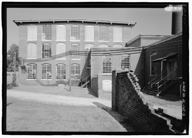 File view of west elevation of south section of lowe mill lowe mill eighth avenue southwest - Lowes huntsville al ...