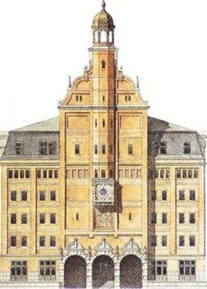 Midtermolen - One of Dahlerup's renderings of the Silo Warehouse