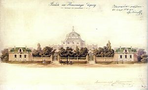 Ippolit Monighetti - Monighetti's plan for the Yusupov Villa, 1856