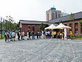 Visitors Buying Tickets Line in Plaza 20140705b.jpg