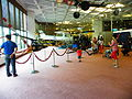 Visitors around OH-13H in Flight Technology Area, 1st Floor of Aviation Museum 20140330.jpg