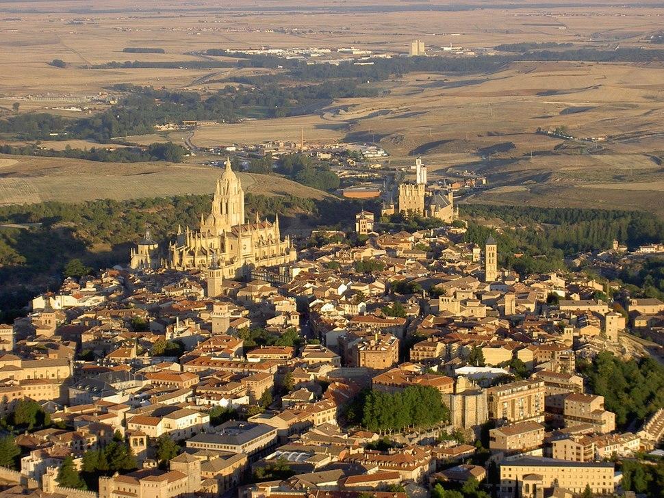 Vista aérea de Segovia.