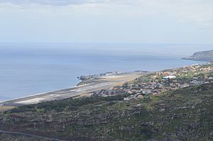 Cristiano Ronaldo International Airport - View of the airport from Machico