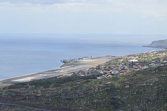 Madeira Airport - View of the airport from Machico