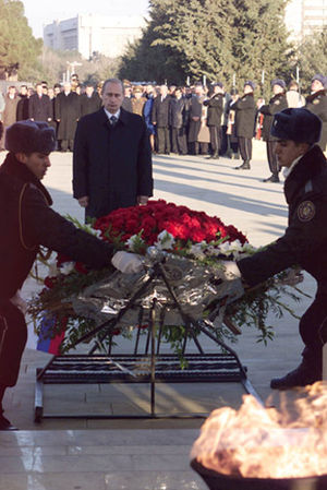 Martyrs' Lane - Image: Vladimir Putin in Azerbaijan 9 10 January 2001 10