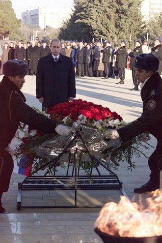Martyrs' Lane - Image: Vladimir Putin in Azerbaijan 9 10 January 2001 10