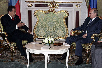 Vladimir Putin with Hugo Chavez 27 July 2006-1