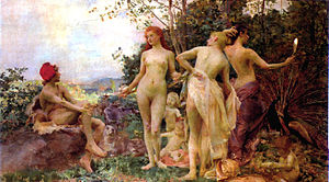Vojtěch Hynais - Image: Vojtěch Hynais The Judgement of Paris, 1892