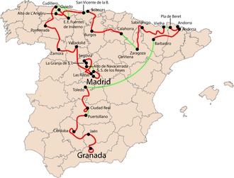 2008 Vuelta a España - Overview of the stages