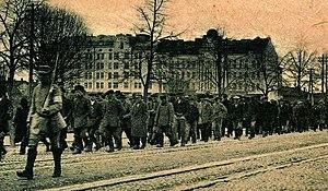 Battle of Vyborg - Captured Reds in Vyborg.