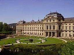 Würzburg Residenz Rückansicht 07