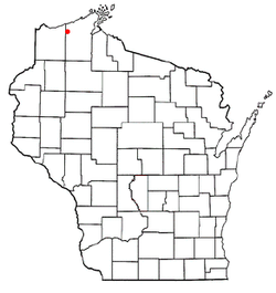 Location of Oulu, Wisconsin