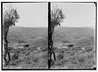 Wady Shaib Es-Salt, Amman, etc. Wady Zerka (Jabbok). View of gorge crossing to Jerash. LOC matpc.02741.jpg
