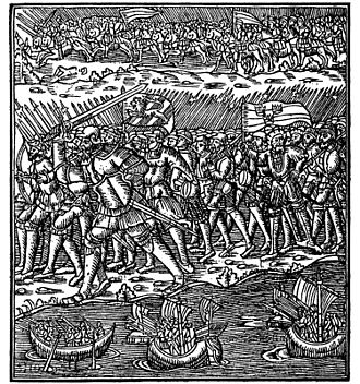 1556 in Sweden - War Between Swedes and Danes - Olaus Magnus 1555