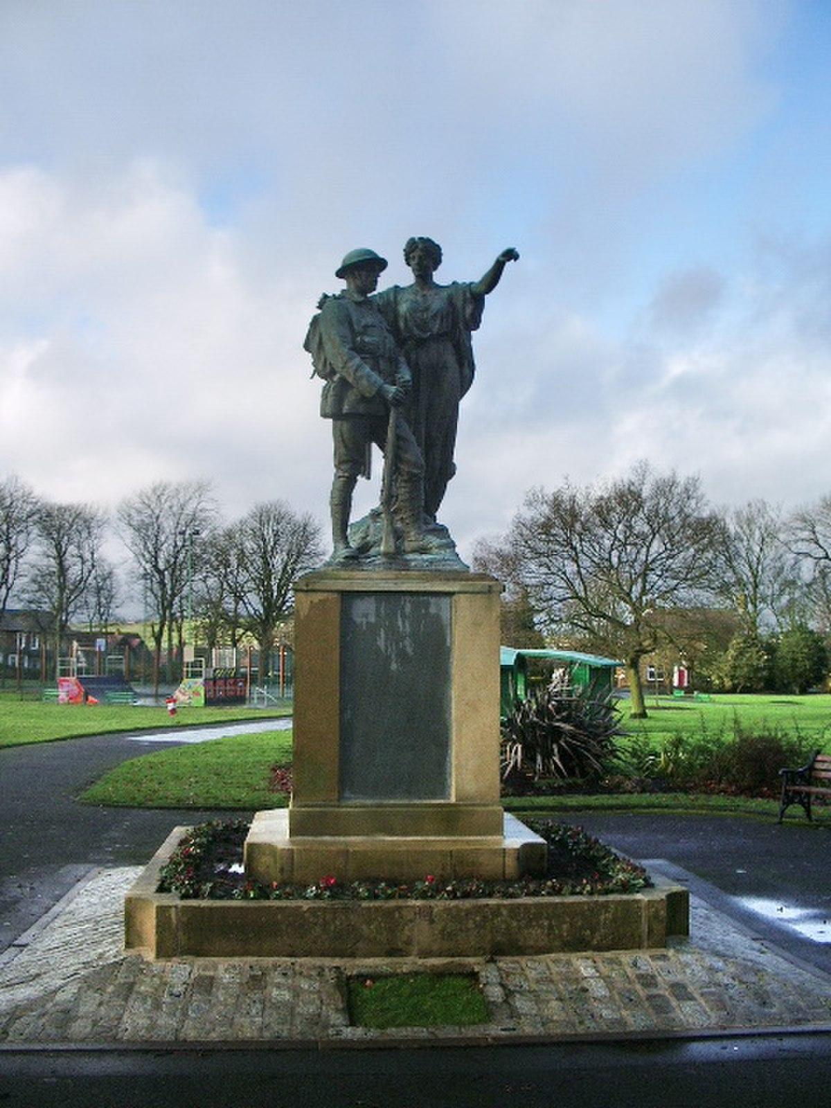 War Memorial, Mercer Park, Clayton-le-Moors - geograph.org.uk - 658686.jpg