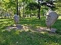 Warszawa-Open air sculptures in Przy Bażantarni Park.jpg