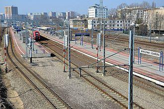 Warszawa Gdańska station - Warszawa Gdańska platforms, view to the west.MArch 2012