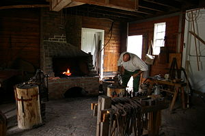 George Washington Birthplace National Monument - Blacksmith shop