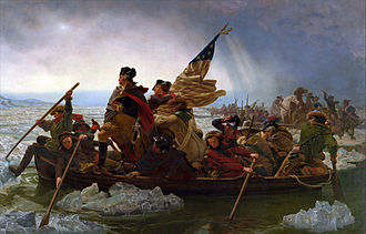 Timeline of the American Revolution - Washington Crossing the Delaware, painting 1851 by Emanuel Leutze