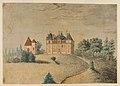 """Watercolor Painting """"Chateau de la Garde par Douzy Nievre"""" by M. D'Auchald.jpg"""