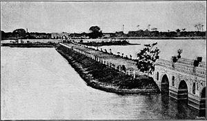 Kankaria Lake - Viaduct to Naginawadi in 1891