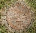 Waymark manhole cover, canal wharf, Sowerby Bridge - geograph.org.uk - 195784.jpg