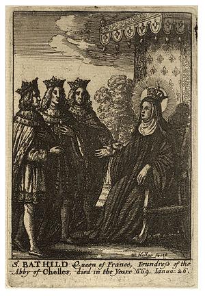 Wenceslas Hollar - St Bathilde