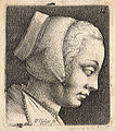 Wenceslas Hollar - Young woman with bonnet (State 2).jpg