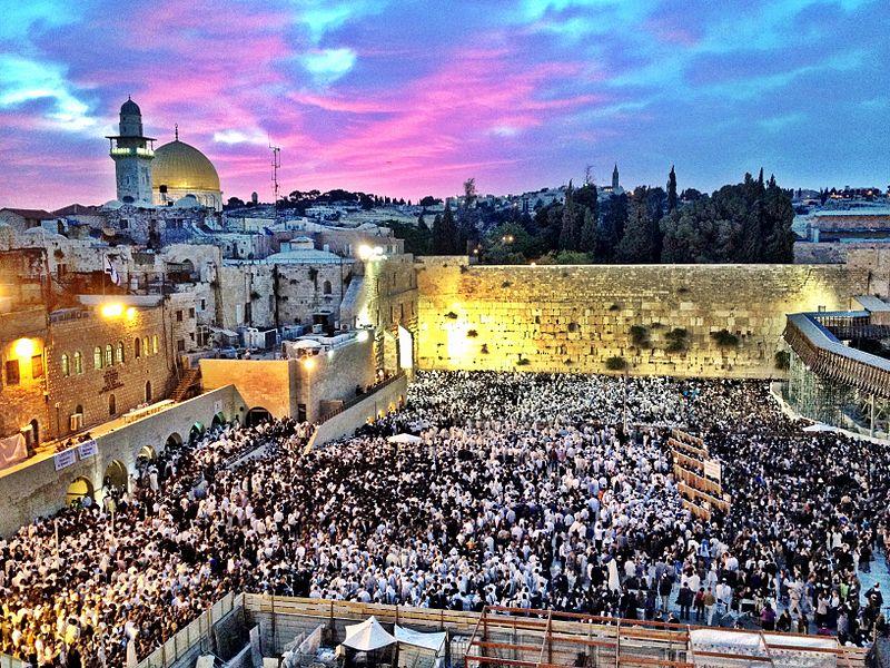 File:Western Wall, Jerusalem, Shavuot.JPG