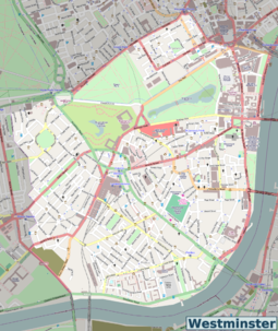 Westminster OSM map