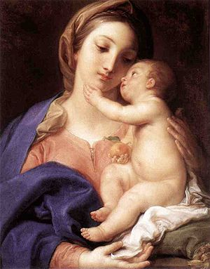Madonna and Child (Galleria Borghese, Rome) Oi...