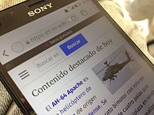 Mobile With Free Basics Zero Rating Plan Showing Spanish Wikipedia Main Page In Mexico