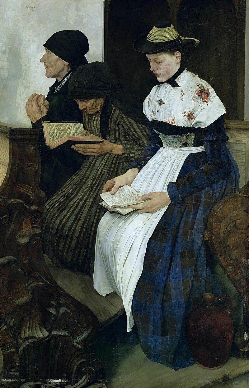 Drei Frauen in der Kirche (Wilhelm Leibl)
