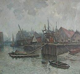 Zicht op de Zalmhaven