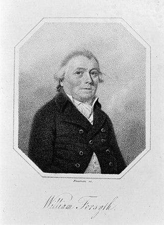 William Forsyth (horticulturist) - A stipple engraving of William Forsyth