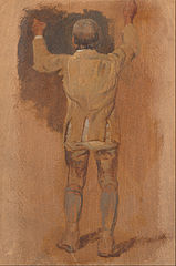 Study of a Groom, Seen from Behind